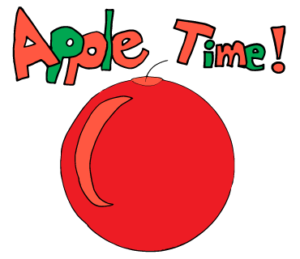 Line Sticker Apple Time