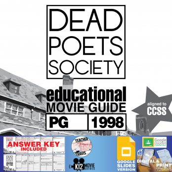 Dead Poets Society Movie Guide | Questions | Worksheet | Google Classroom (PG - 1989) Cover