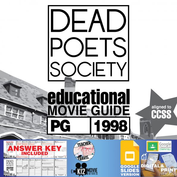 Dead Poets Society Movie Guide   Questions   Worksheet   Google Classroom (PG - 1989) Cover
