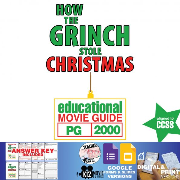 How the Grinch Stole Christmas Movie Guide | Questions | Worksheet (PG - 2000) Cover