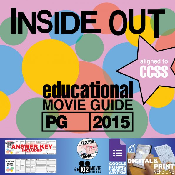Inside Out Movie Guide | Questions | Worksheet (PG - 2015) Cover