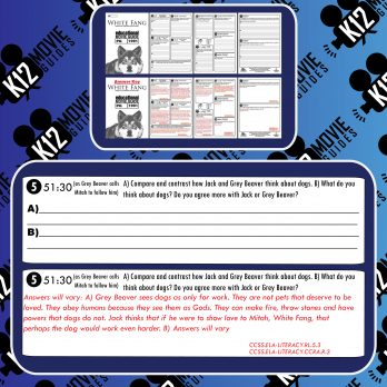 White Fang Movie Guide | Questions | Worksheet | Google Forms (PG - 1991) Free Sample