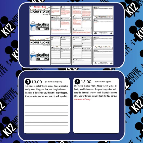 Home Alone Movie Guide | Questions | Worksheet (PG - 1990) Sample