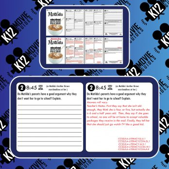 Matilda Movie Guide | Questions | Worksheet | Google Forms (PG - 1996) Free Sample