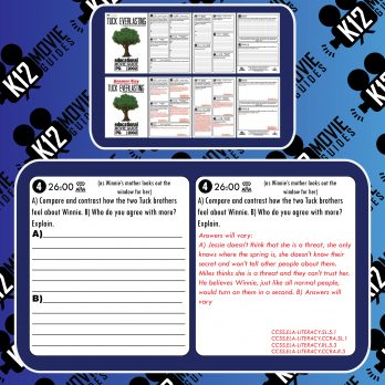 Tuck Everlasting Movie Guide | Questions | Worksheet | Google Forms (PG - 2002) Free Sample