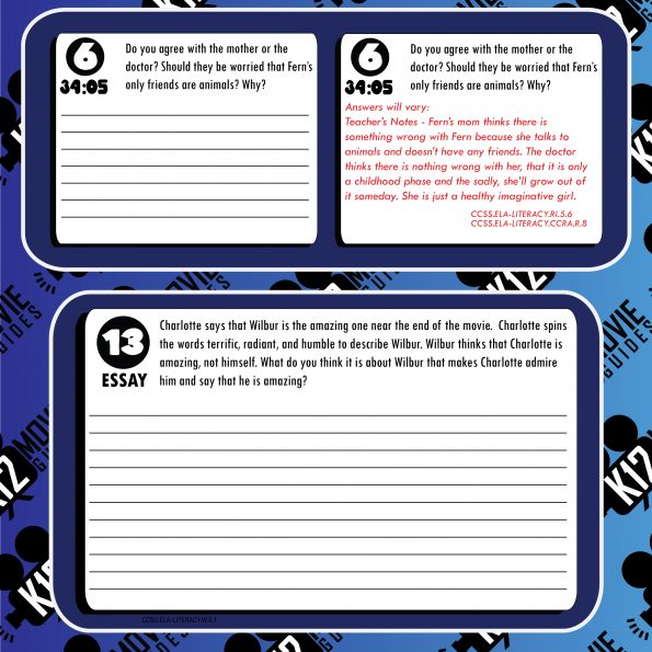 Charlotte's Web Movie Guide | Questions | Worksheet | Google Form (G - 2006) Free Sample