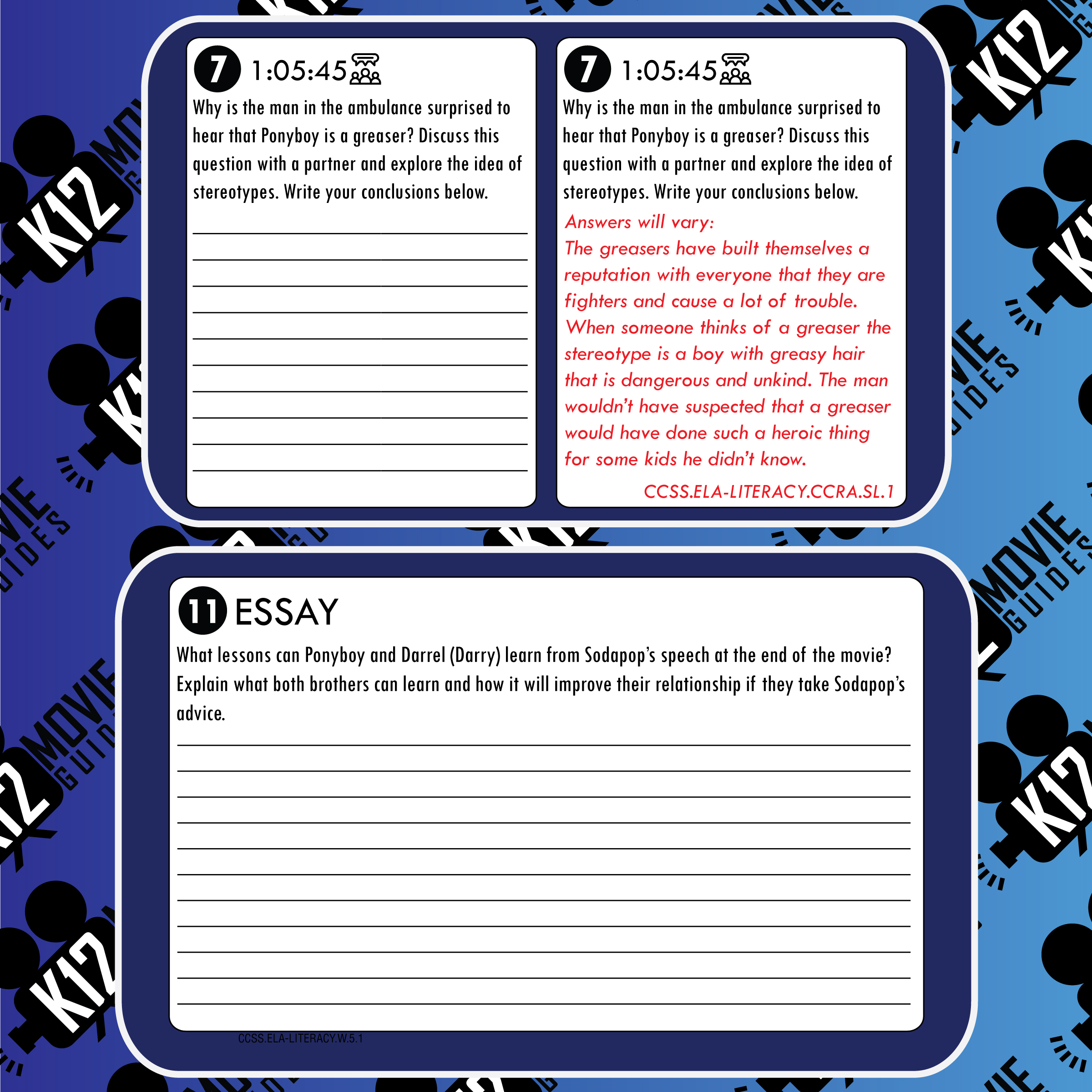 The Outsiders Movie Guide | Questions | Worksheet (PG13 - 1983) Free Sample