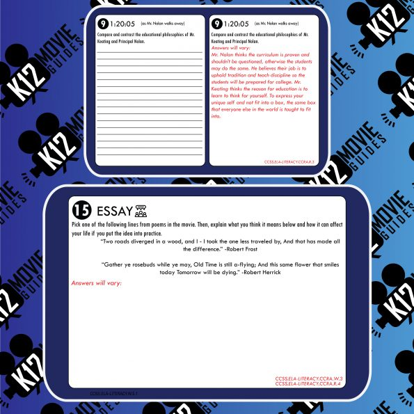 Dead Poets Society Movie Guide | Questions | Worksheet (PG - 1989) Free Sample