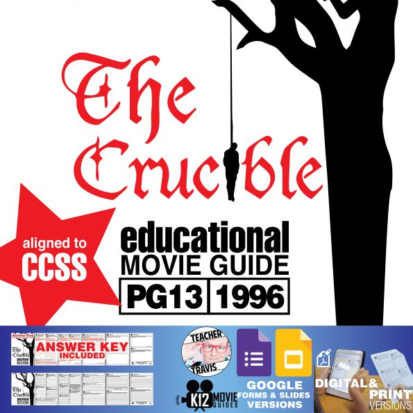 The Crucible Movie Guide | Questions | Worksheet (PG13 - 1996) Cover