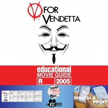 V for Vendetta Movie Guide | Questions | Worksheet (R - 2005) Cover