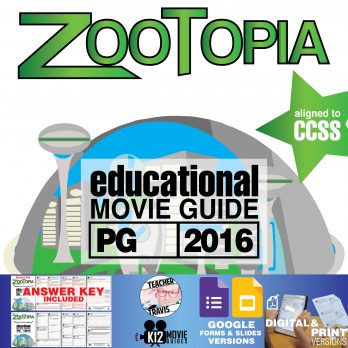 Zootopia Movie Guide | Questions | Worksheet | Google Formats (PG – 2016) Cover