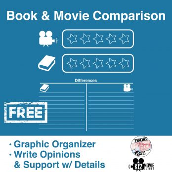 Free! Book & Movie Comparison Worksheet Cover