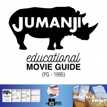 Jumanji Movie Guide | Questions | Worksheet (PG - 1995) Cover