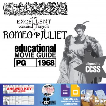 Romeo and Juliet Movie Guide | Questions | Worksheet | Google Formats (PG-1968) Cover