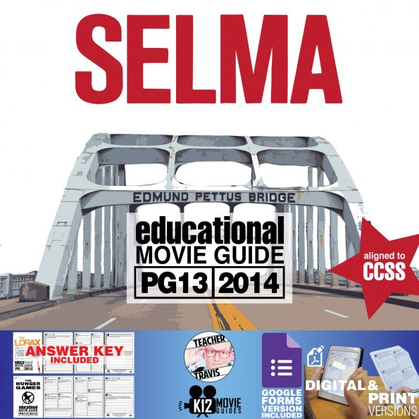 Selma Movie Guide | Questions | Worksheet | Google Forms (PG13 - 2014) Cover