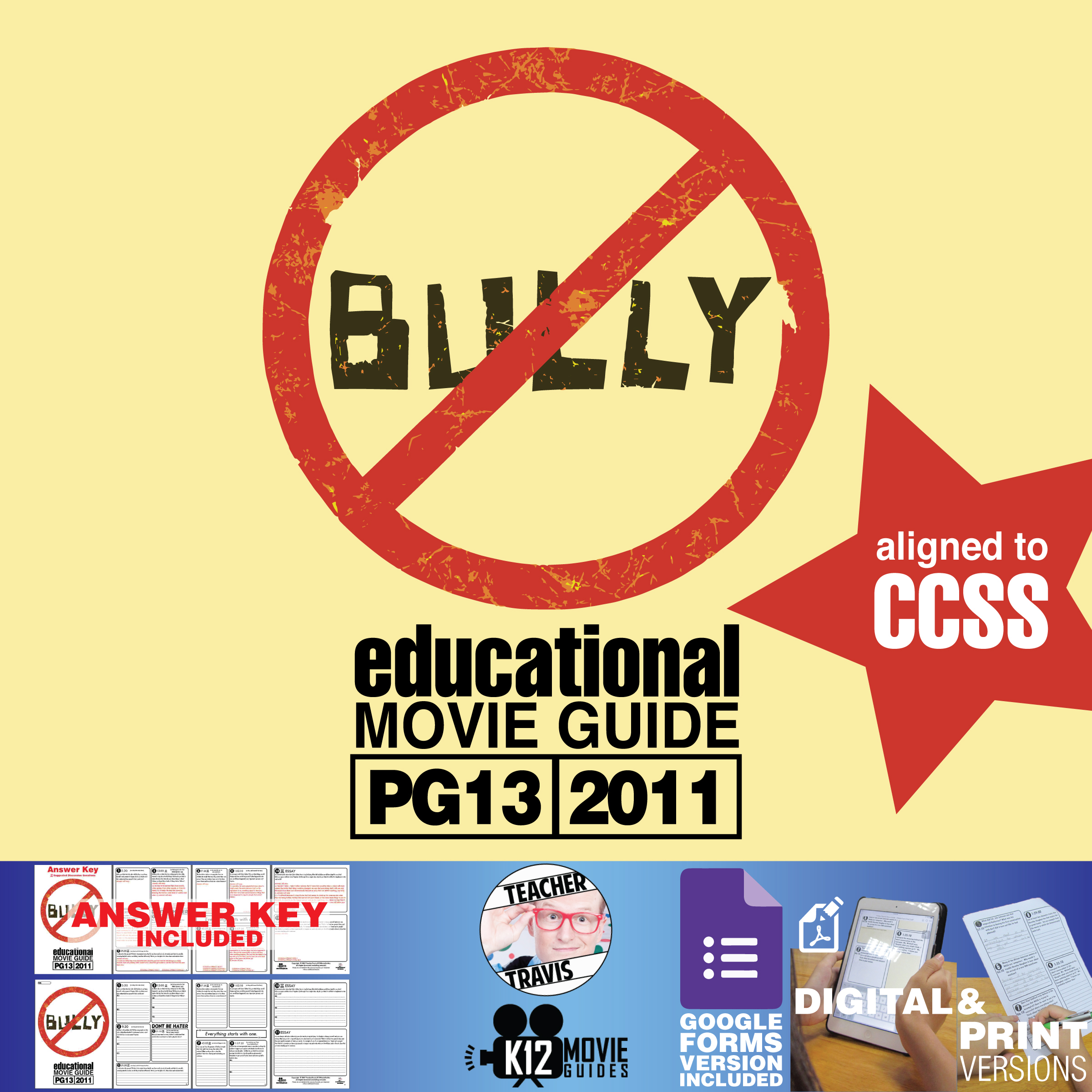 Bully Movie (Documentary) Guide | Questions | Google Form (PG13 - 2011) Cover