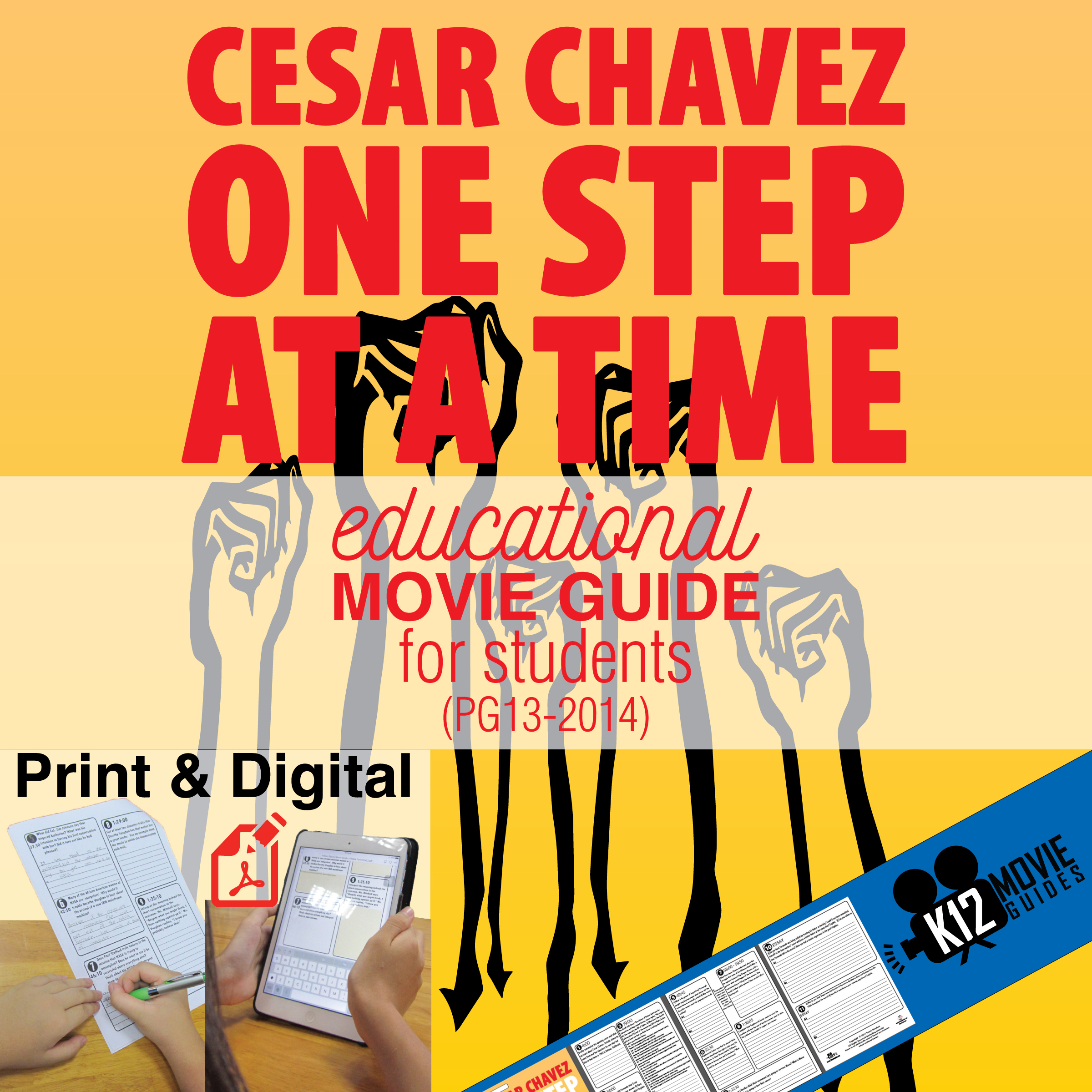 Cesar Chavez Movie Guide Questions (PG13 - 2014) Cover