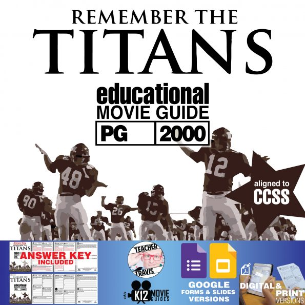 Remember the Titans Movie Guide   Questions   Worksheet   Google Class (PG-2000) Cover