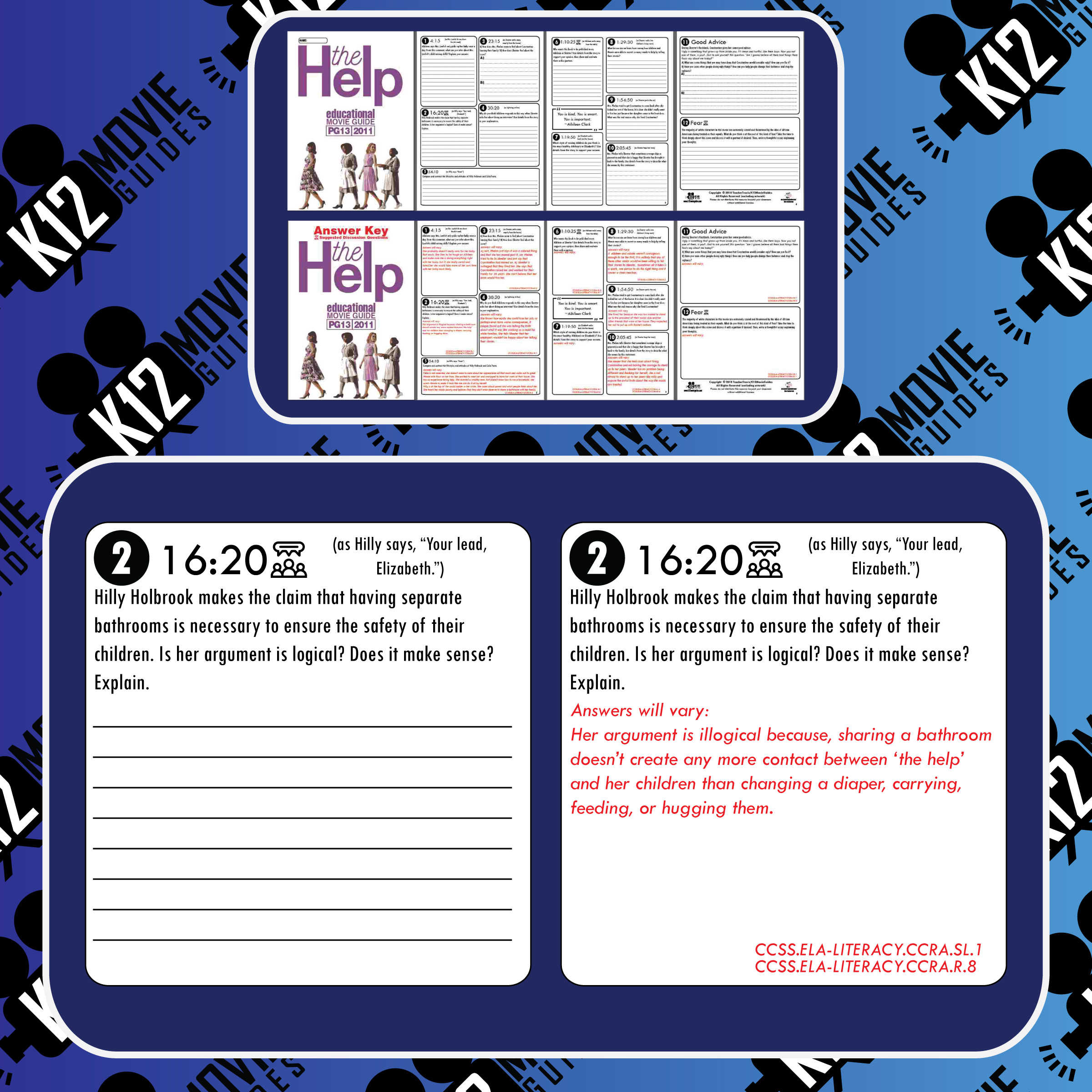 The Help Movie Viewing Guide | Questions | Worksheet | Google Forms (PG13 - 2011) Free Sample