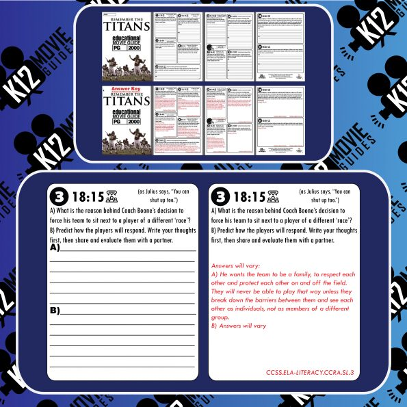 Remember the Titans Movie Guide | Questions | Worksheet (PG-2000) Free Samples