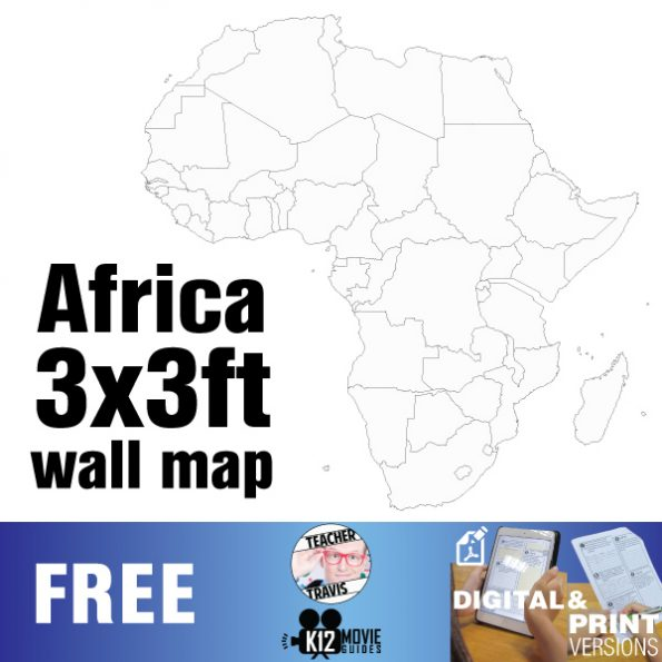 Free African Continent Wall Map | Collaborative Mural | 3x3ft Poster