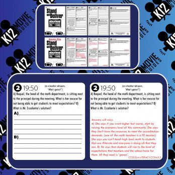 Stand and Deliver Movie Viewing Guide | Worksheet | Google Form (PG - 1988) Free Sample