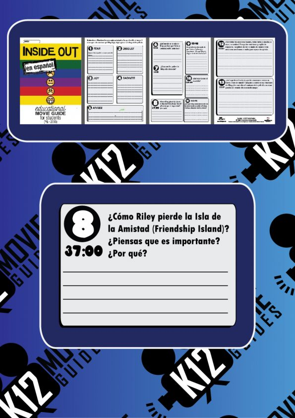 Inside Out Movie Guide en Espanol Sample Questions