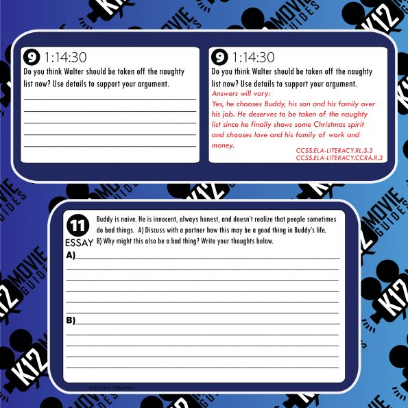 Elf Movie Viewing Guide | Questions | Worksheet | Google Form (PG - 2003) Free Sample