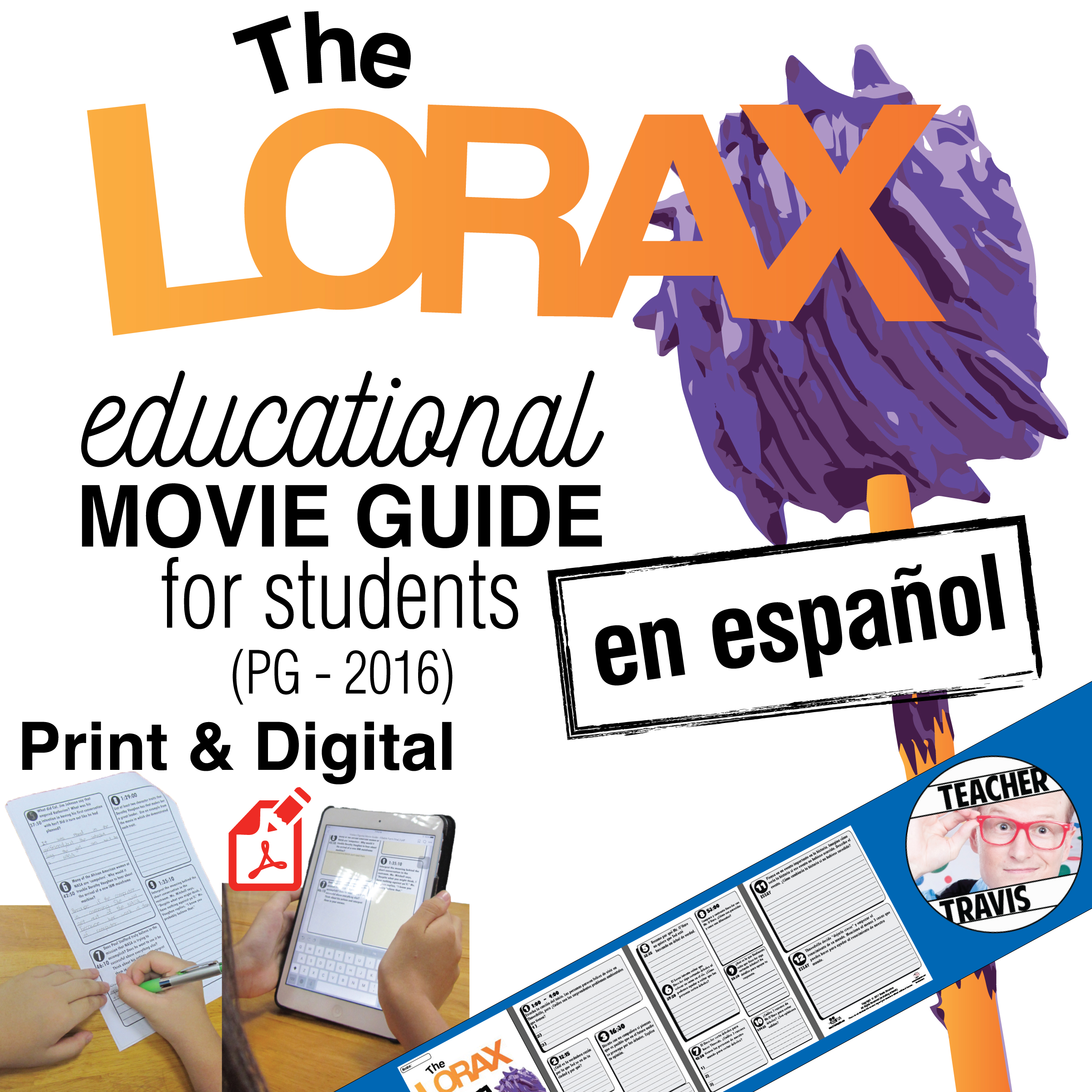 The Lorax Movie Guide - En Espanol Cover