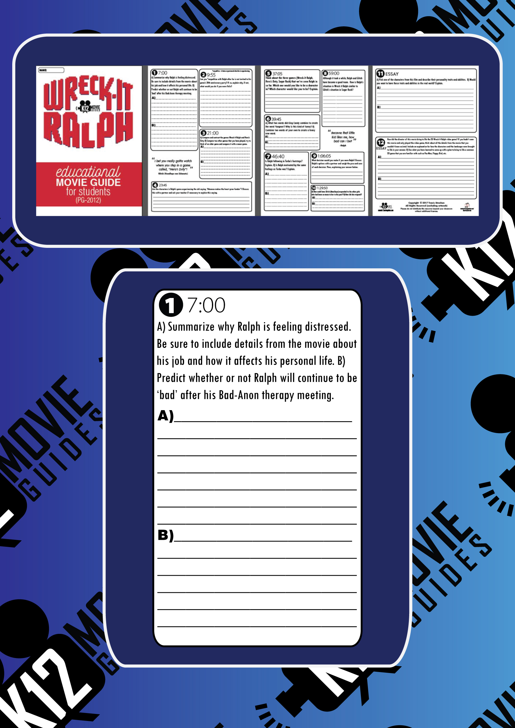 Wreck-It Ralph Movie Guide Questions Sample