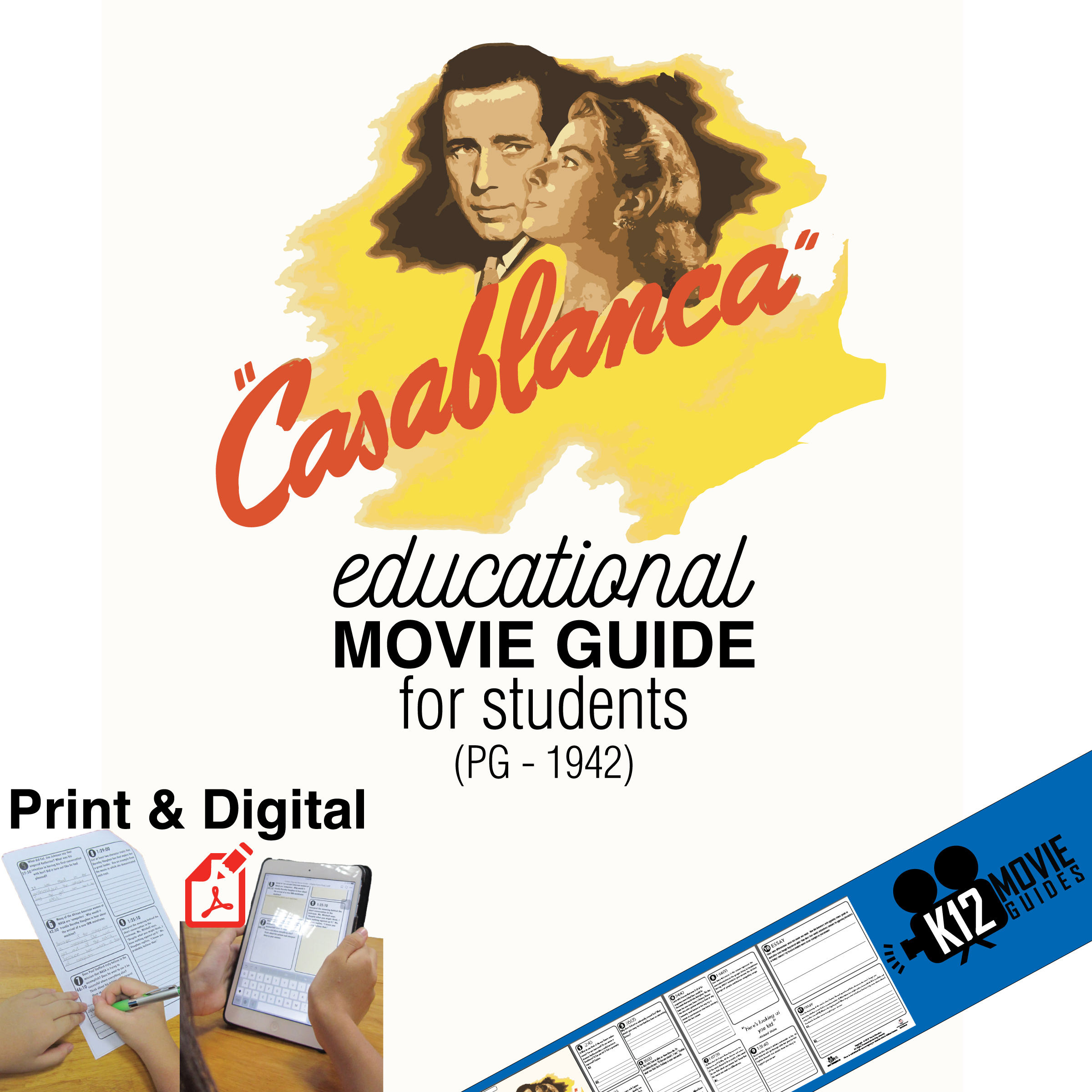 Casablanca Movie Guide Questions Cover