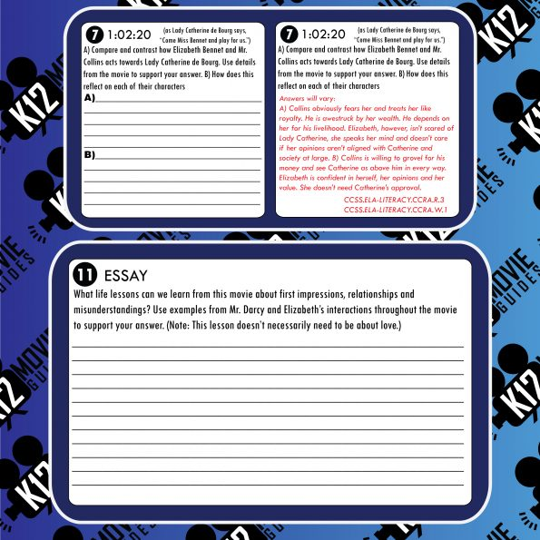 Pride and Prejudice Movie Guide | Worksheet | Questions | Google Classroom (PG - 2005) Sample