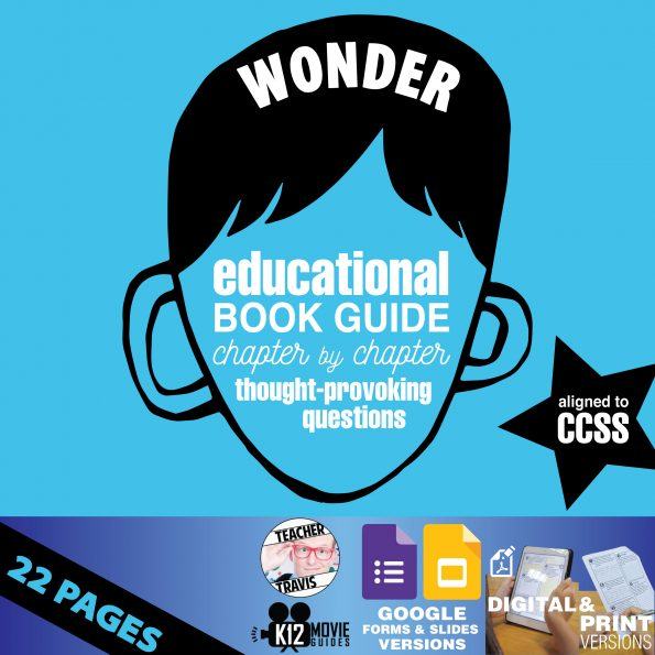 Wonder Book Study Guide - Chapter by Chapter Questions - Google Formats Cover