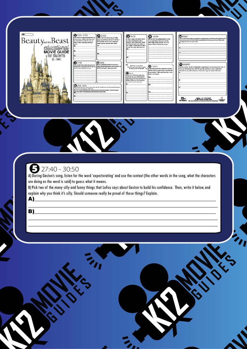 Beauty and the Beast Movie Guide (G - 1991) Sample Questions