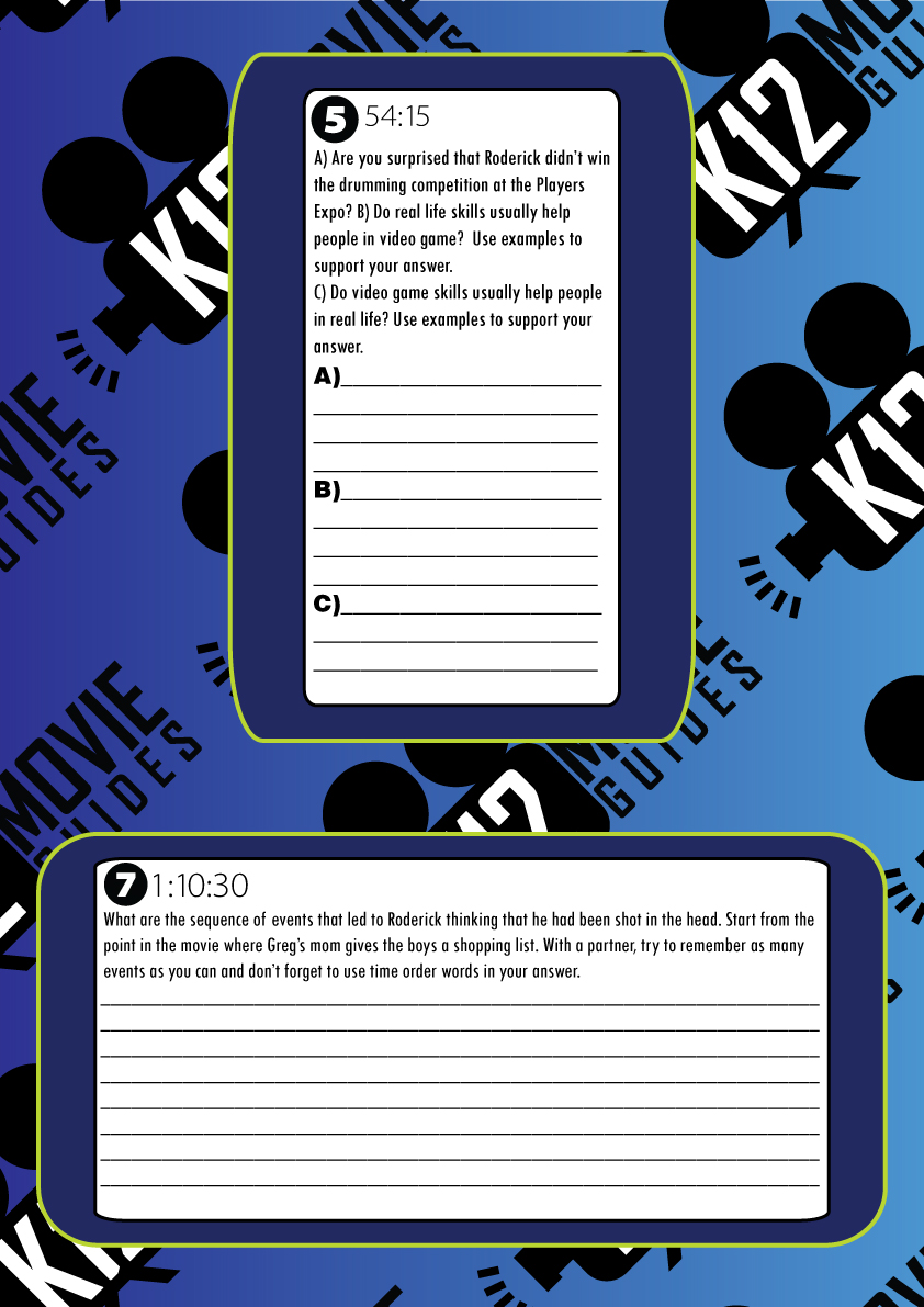 Diary of a Wimpy Kid - The Long Haul Movie Viewing Guide Sample Questions