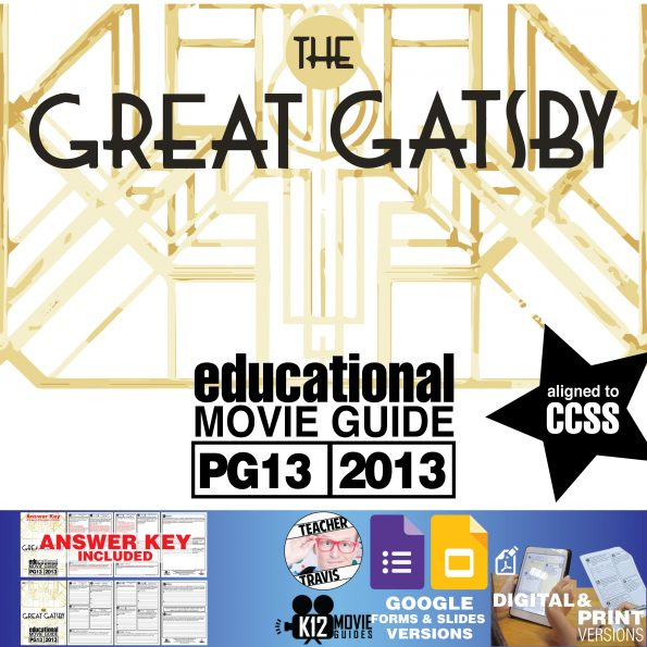 The Great Gatsby (PG13 - 2013) Movie Guide Cover