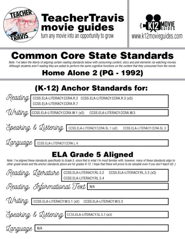 Home Alone 2 Movie Guide | Film Questions | Worksheet (PG - 1992) CCSS Alignment