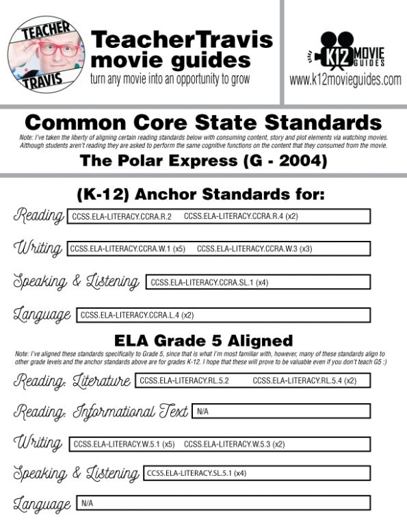 The Polar Express Movie Guide | Questions | Worksheet | Google Form (G - 2004) CCSS Alignment