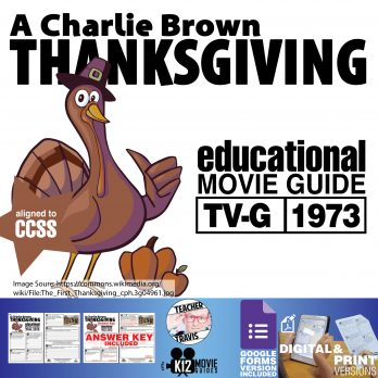 A Charlie Brown Thanksgiving Movie Viewing Guide   Worksheet   Google (1973) Cover