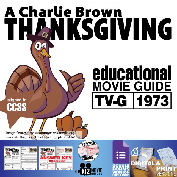 A Charlie Brown Thanksgiving Movie Viewing Guide | Worksheet | Google (1973) Cover