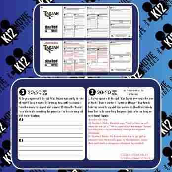 Tarzan Movie Guide | Worksheet | Questions | Google Slides (G - 1999) Sample