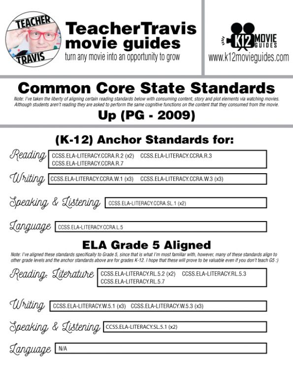 Up Movie Guide   Worksheet   Questions   Google Classroom (PG - 2009) CCSS