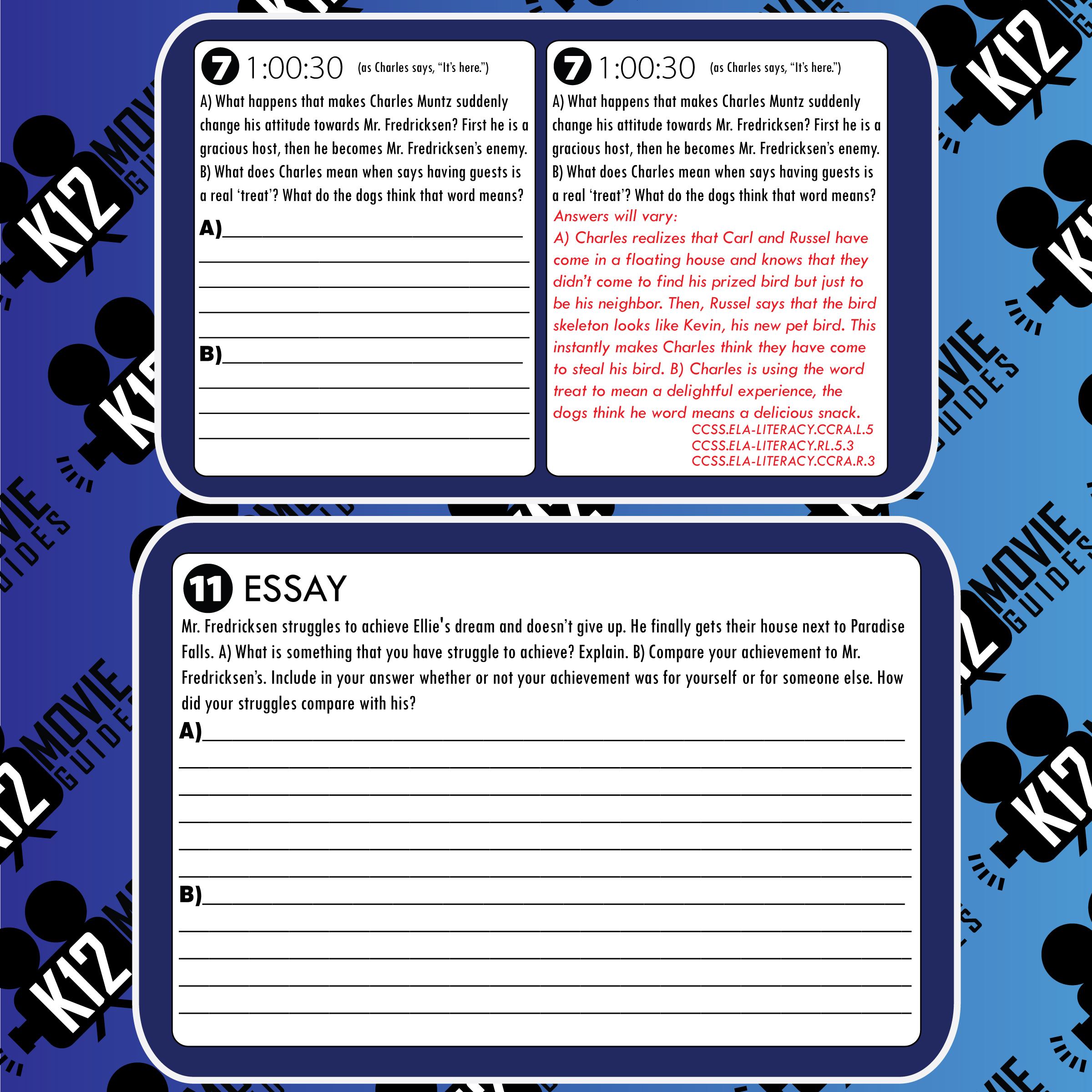 Monsters, Inc. Movie Guide Questions Sample