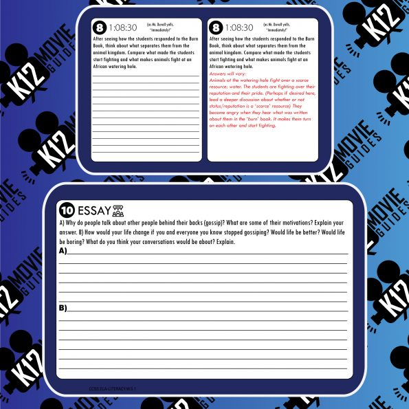 Mean Girls Movie Guide   Questions   Worksheet   Google Forms (PG13 - 2004) Free Sample