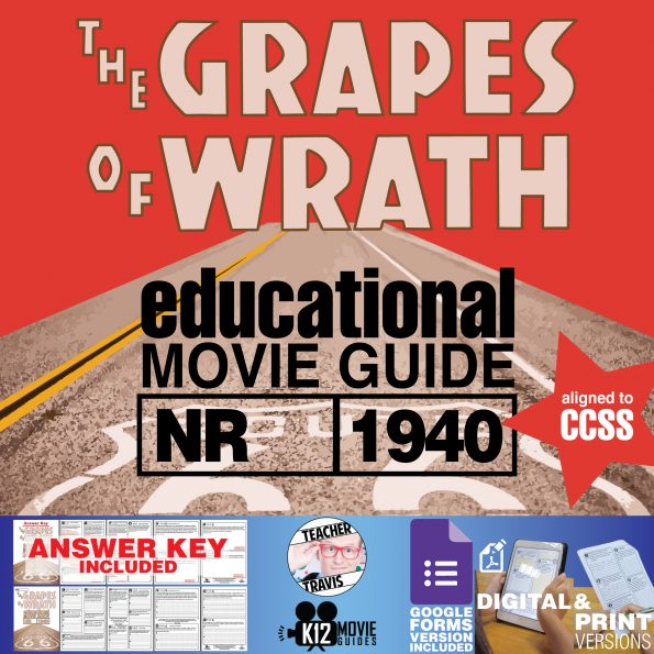 The Grapes of Wrath Movie Guide | Questions | Worksheet | Google Form (1940) Cover