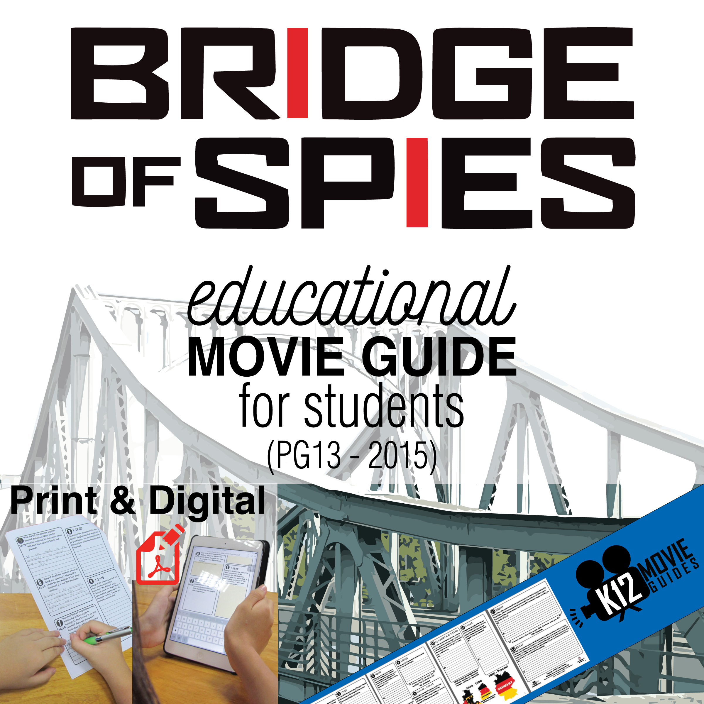 Bridge of Spies Movie Guide | Questions | Worksheet (PG13 - 2015) Cover