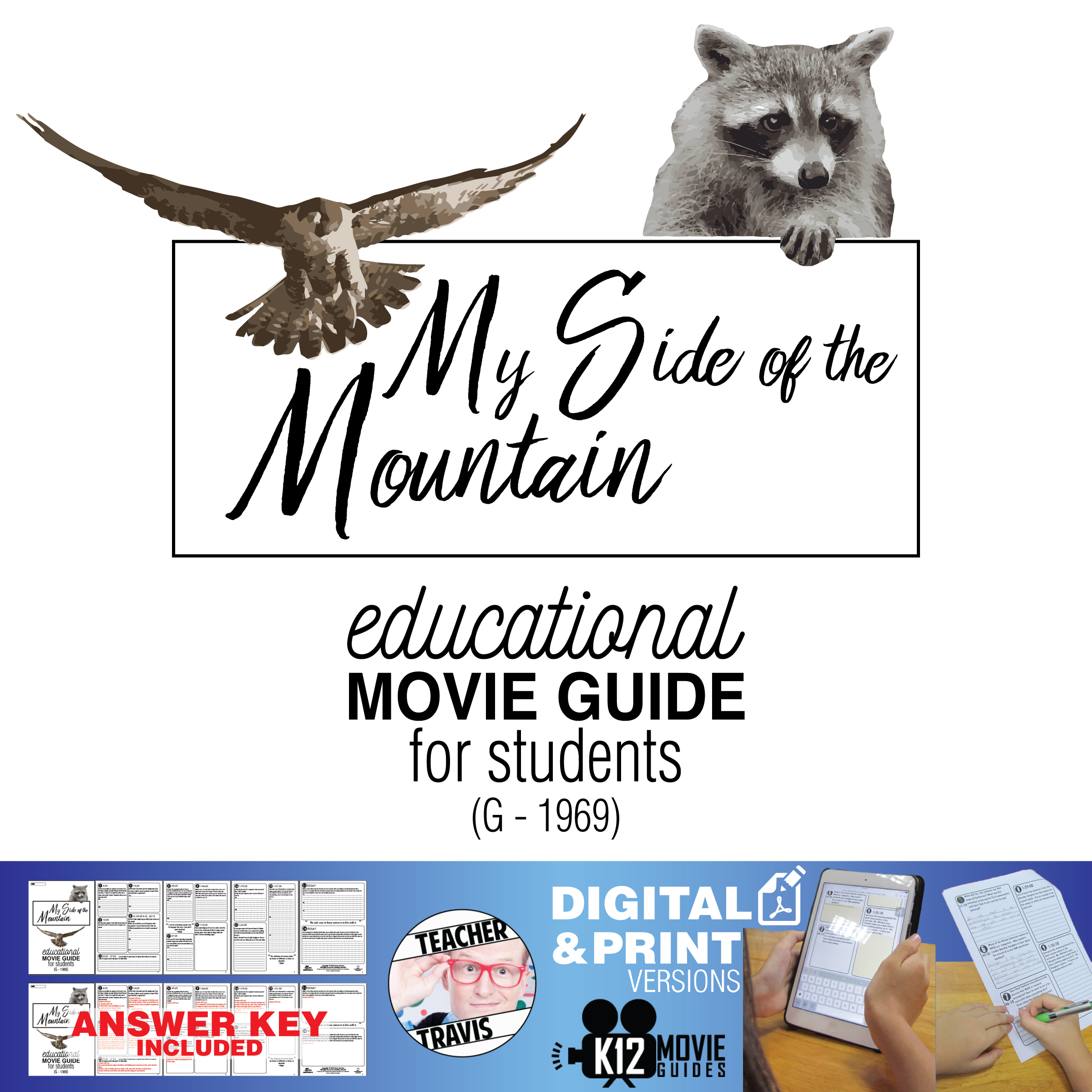 My Side of the Mountain Movie Guide | Film Questions | Worksheet (G - 1969) Cover