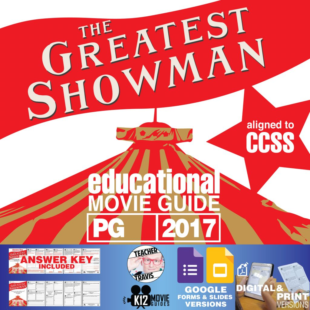 The Greatest Showman Movie Guide | Questions | Worksheet (PG - 2017) Cover