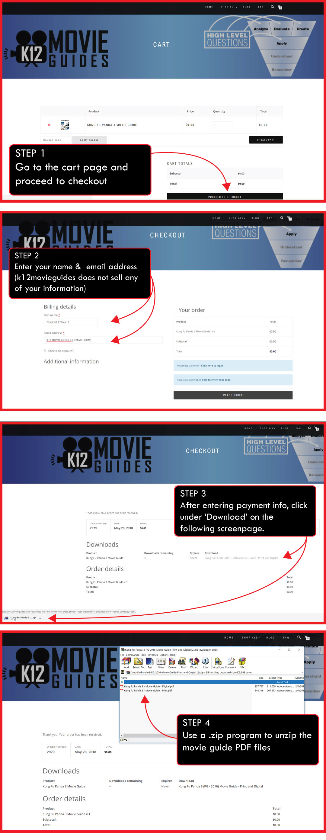 FAQ - K12MovieGuides - How to buy a resource