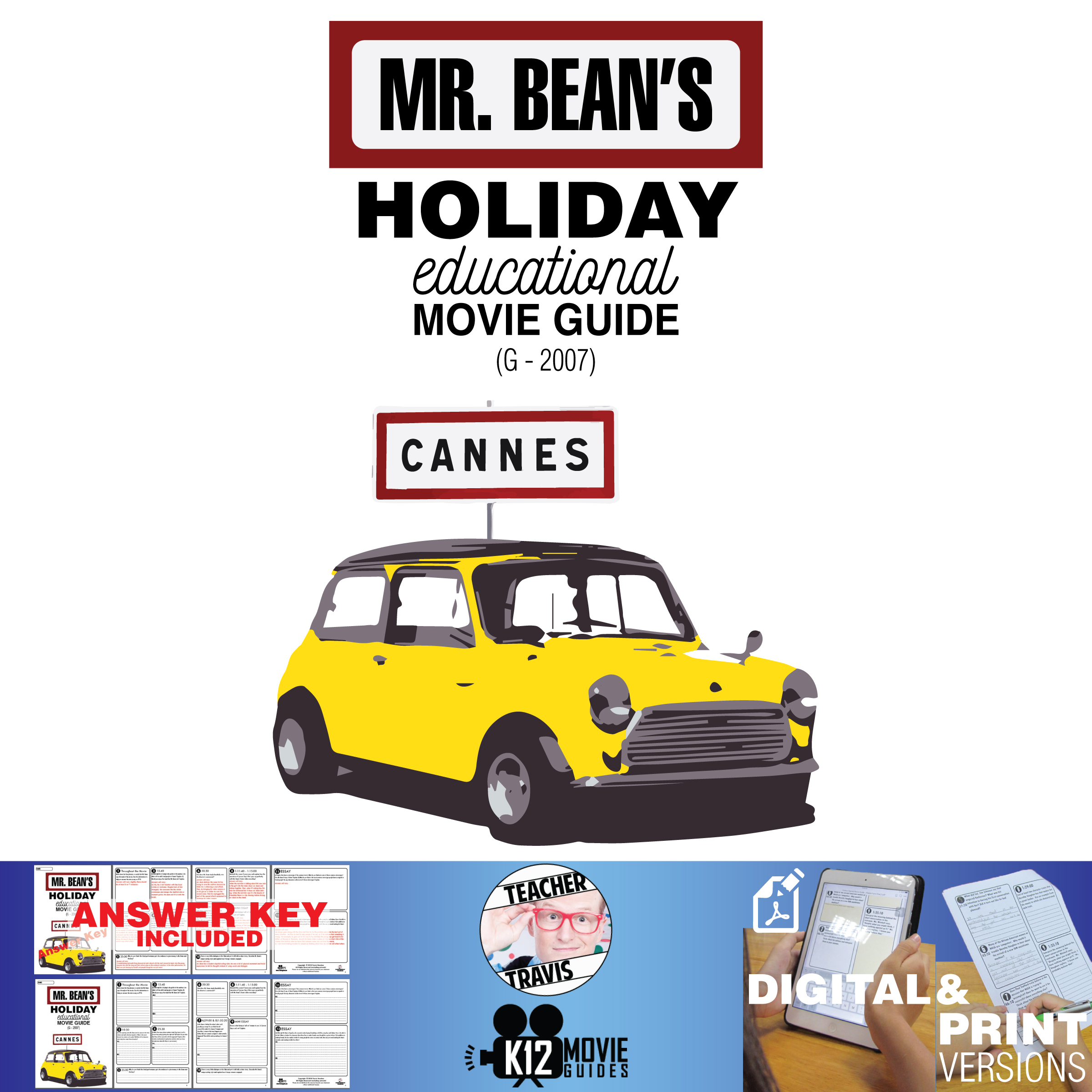 Mr. Bean's Holiday Movie Guide | Questions | Worksheet (G - 2007) Cover